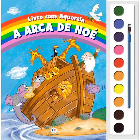 Livro com Aquarela - a Arca de Noé