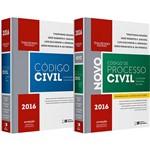Livro - Combo Código Civil e Legislação em Vigor + Código de Processo Civil e Legislação Processual em Vigor