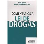 Livro - Comentários à Lei de Drogas
