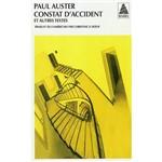 Livro - Constat D'Accident Et Autres Textes