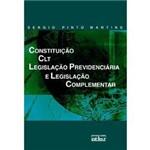Livro - Constituição, CLT, Legislação Prevididenciária e Legislação Complementar