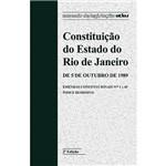 Livro - Constituição do Estado do Rio de Janeiro - de 5 de Outubro de 1989 - Emendas Constitucionais Nºs 1 a 45 - Índice Remissivo