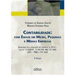 Livro - Contabilidade: com Ênfase em Micro, Pequenas e Médias Empresas