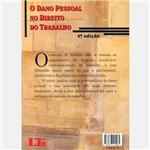 Livro - Dano Pessoal no Direito do Trabalho, o