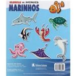Livro - Desenhe e Pinte Silhuetas de Animais Marinhos - Coleção Molde e Cor