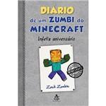 Livro - Diário de um Zumbi do Minecraft: Infeliz Aniversário