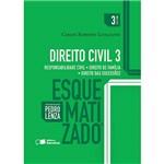Livro - Direito Civil 3 Esquematizado: Responsabilidade Civil-Direito de Família-Direito das Suceções