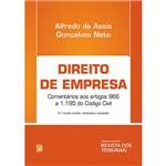 Livro - Direito de Empresa: Comentários Aos Artigos 966 a 1.195 do Código Civil