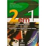 Livro - 2 em 1 - Constituição Federal e do Estado de Minas Gerais