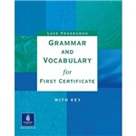 Livro - Grammar And Vocabulary For First Certificate With Key