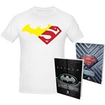 Livro - Kit Batman e Superman com Camiseta G