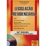 Livro - Legislação Previdênciaria: Atualizada Até 22/10/2008
