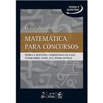 Livro - Matemática para Concursos: Série Teoria e Questões
