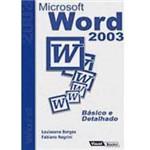 Livro - Microsoft Word 2003: Básico e Detalhado