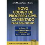 Livro - Novo Código de Processo Civil Comentado para Concursos