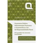 Livro - Orçamento Público, Administração Financeira e Orçamentária e Lei de Responsabilidade Fiscal
