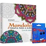 Livro para Colorir - Mandala: Terapia para a Alma + Lápis de Cor Make +
