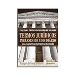 Livro - Pequeno e Prático Dicionário de Bolso - Termos Jurídicos Ingleses de Uso Diário