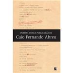 Livro - Poesias Nunca Publicadas de Caio Fernando Abreu