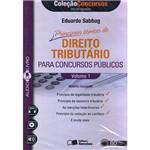 Livro - Principais Tópicos de Direito Tributário para Concursos Públicos - AudioLivro (CD) - Vol. 1