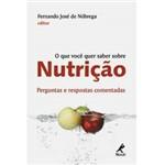 Livro - que Você Quer Saber Sobre Nutrição, o