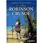 Livro - Robinson Crusoé - Coleção Clássicos da Literatura em Quadrinhos