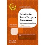 Livro - Série Provas e Concursos: Direito do Trabalho para Concursos