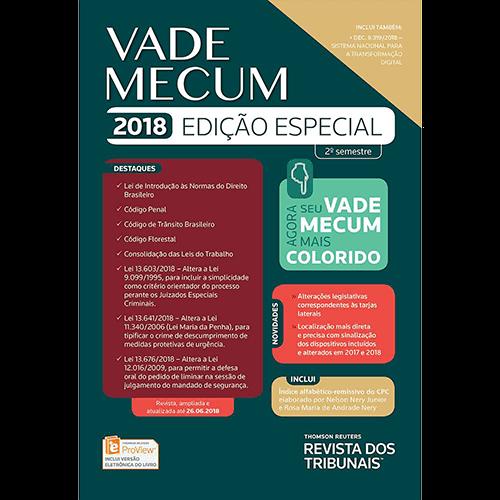 Livro - Vade Mecum 2018 Edição Especial - 2º Semestre