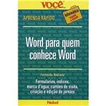 Livro - Word para Quem Conhece Word
