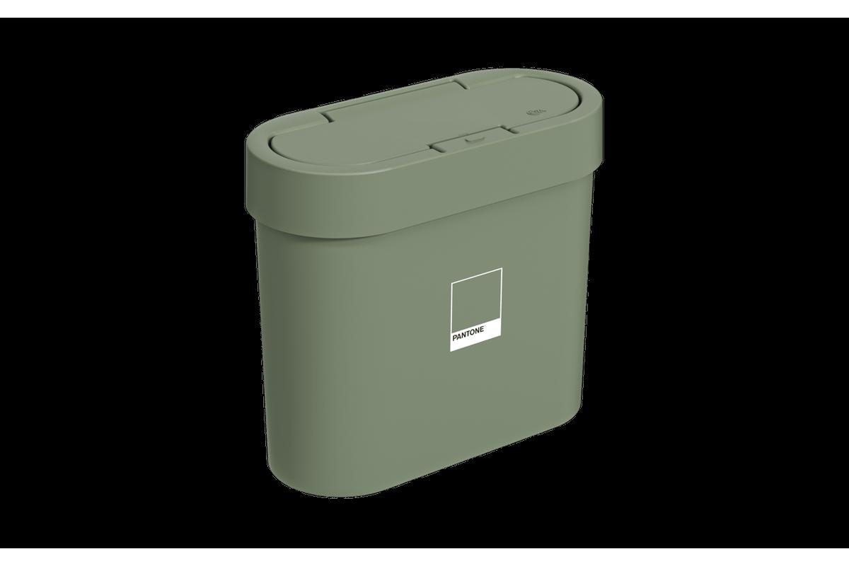 Lixeira Automática 2,8L Flat 11 X 23,5 X 20,5 Cm Verde Pantone Coza