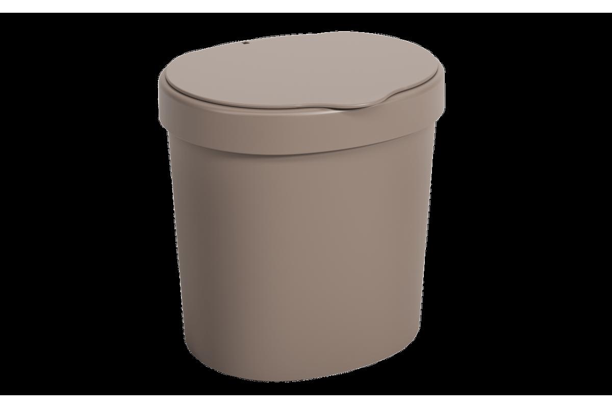 Lixeira Basic 2,5 L 17,5 X 15 X 18,2 Cm Warm Gray Coza