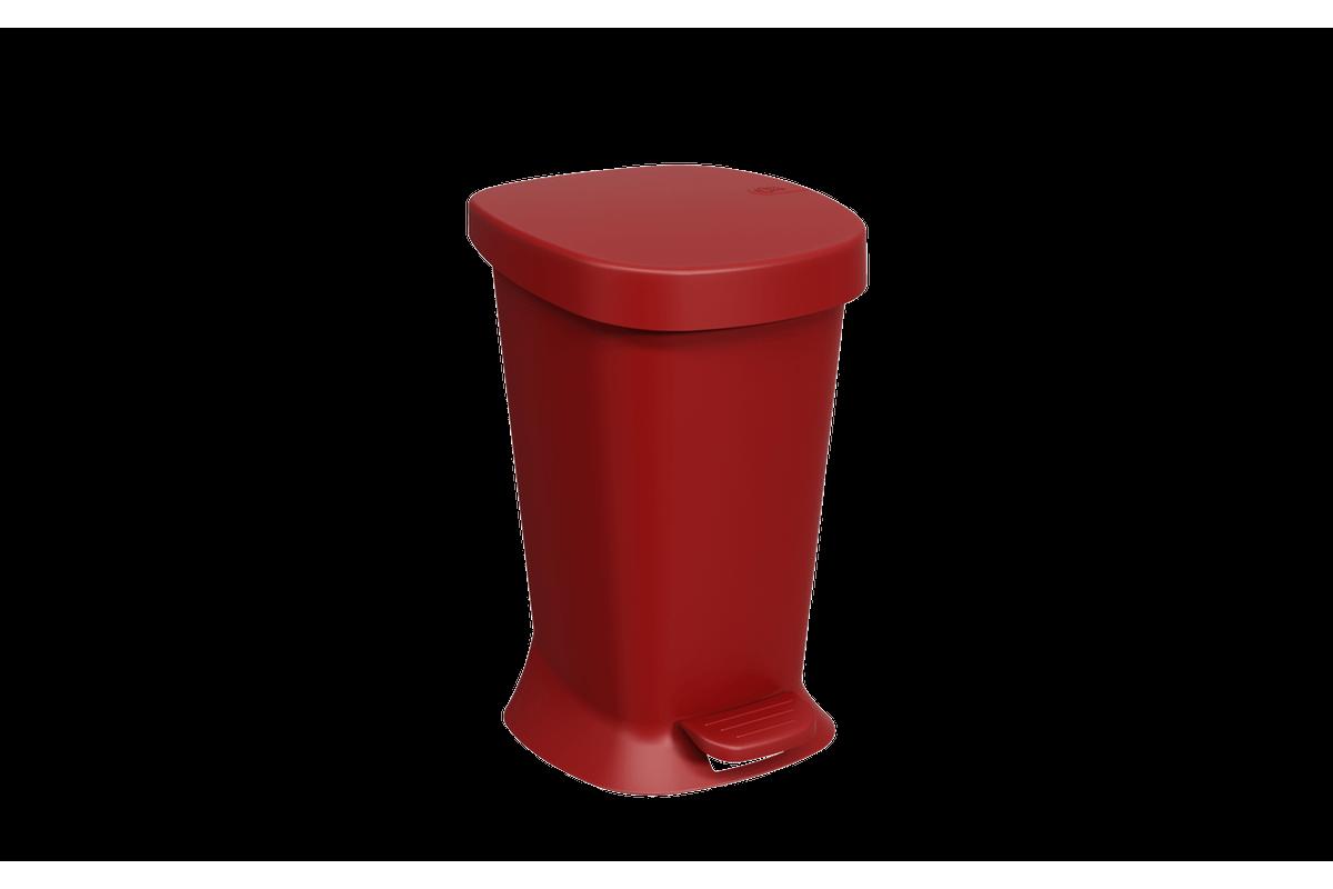 Lixeira C/ Pedal Square 5L 21,4 X 32 X 20,3 Cm 5 L Vermelho Bold Coza