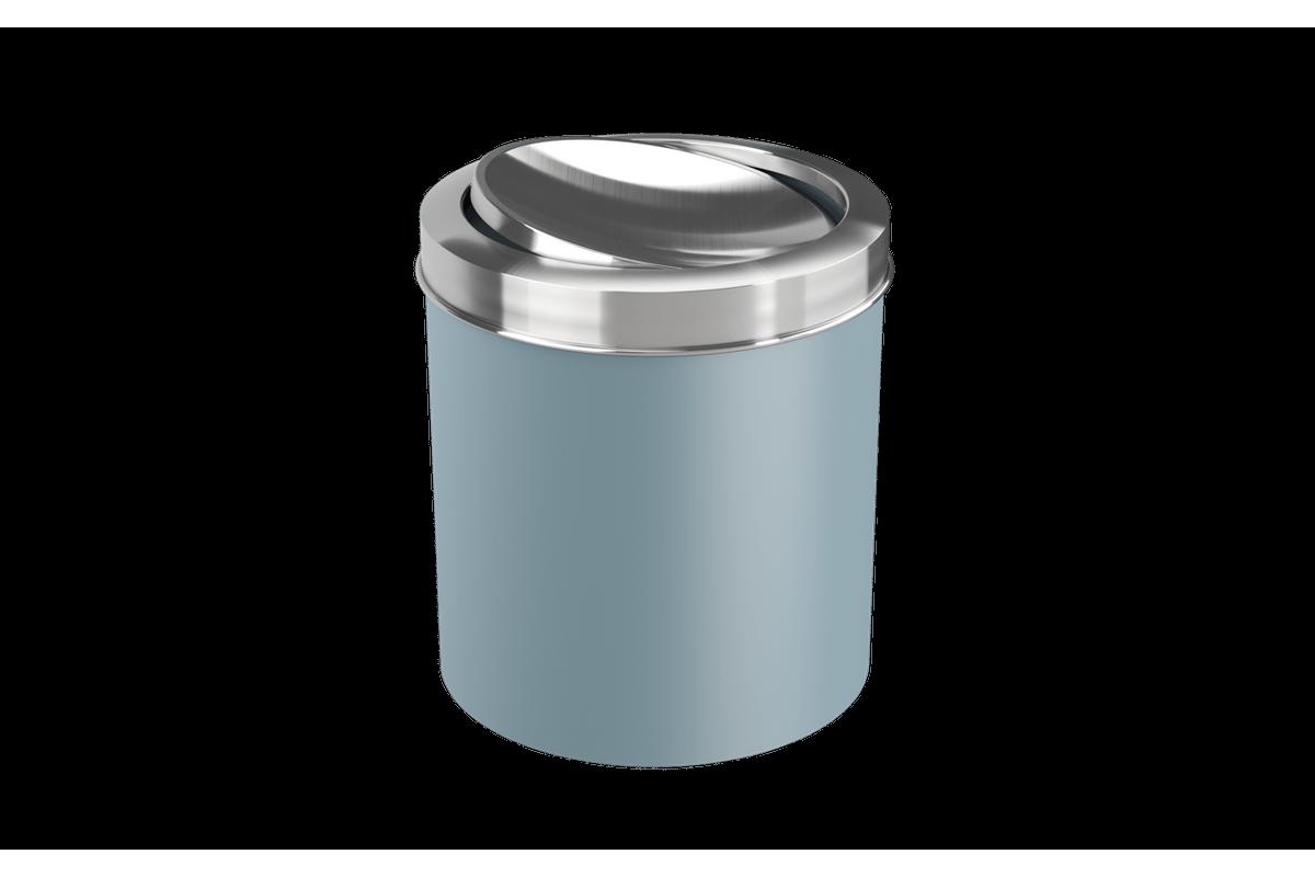 Lixeira com Tampa Basculante Inox 5,4L 19,5x20x22,4cm Azul Fog Coza