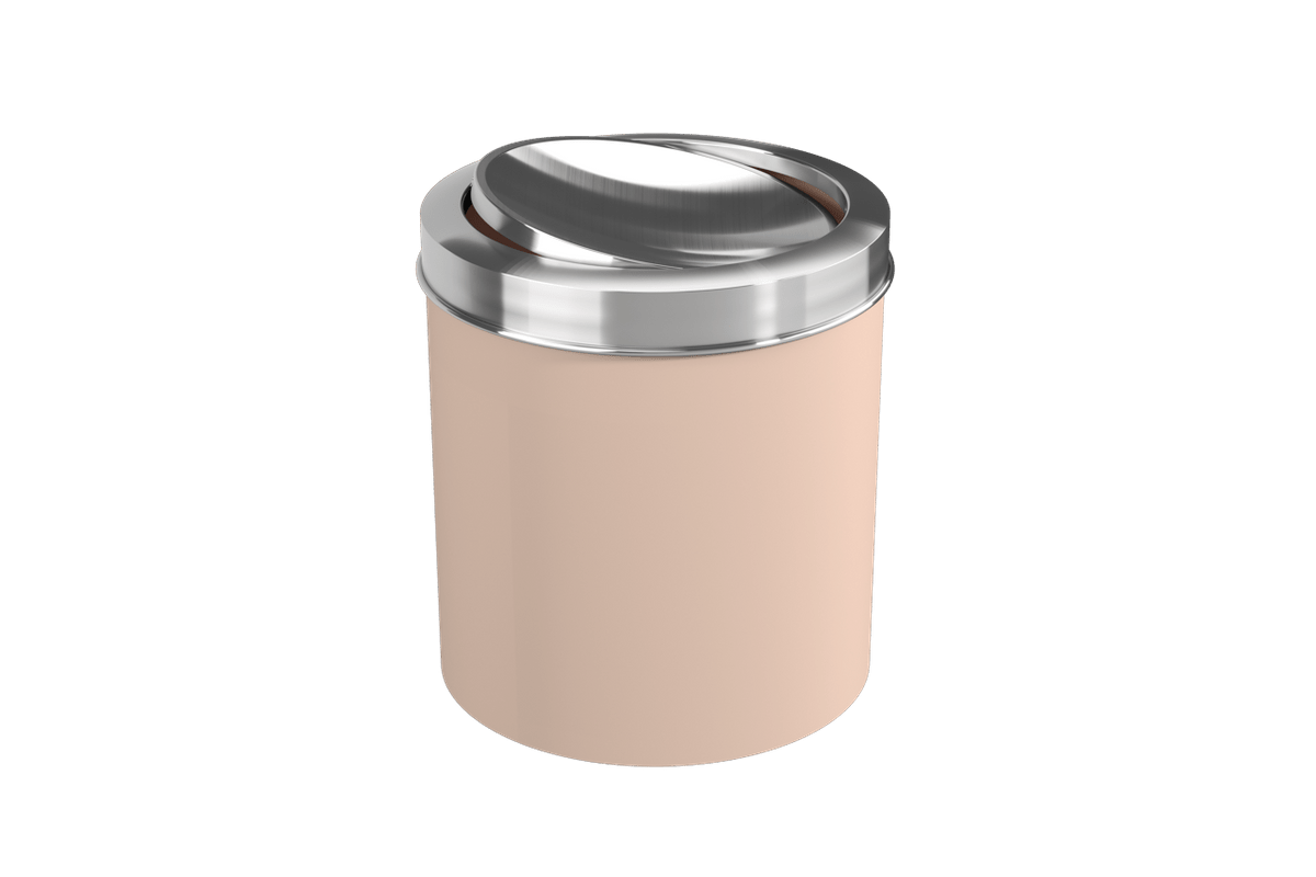 Lixeira com Tampa Basculante Inox 5,4L 19,5x20x22,4cm Rosa Blush Coza