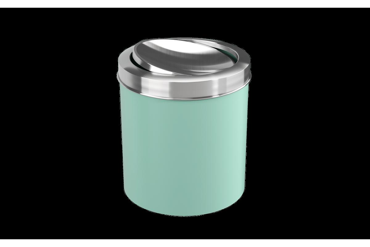 Lixeira com Tampa Basculante Inox 5,4L 19,5x20x22,4cm Verde Elétrico Coza