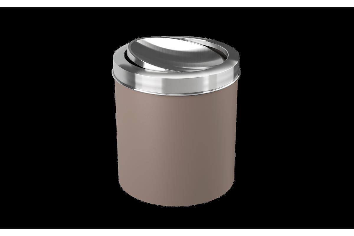 Lixeira com Tampa Basculante Inox 5,4L 19,5x20x22,4cm Warm Gray Coza