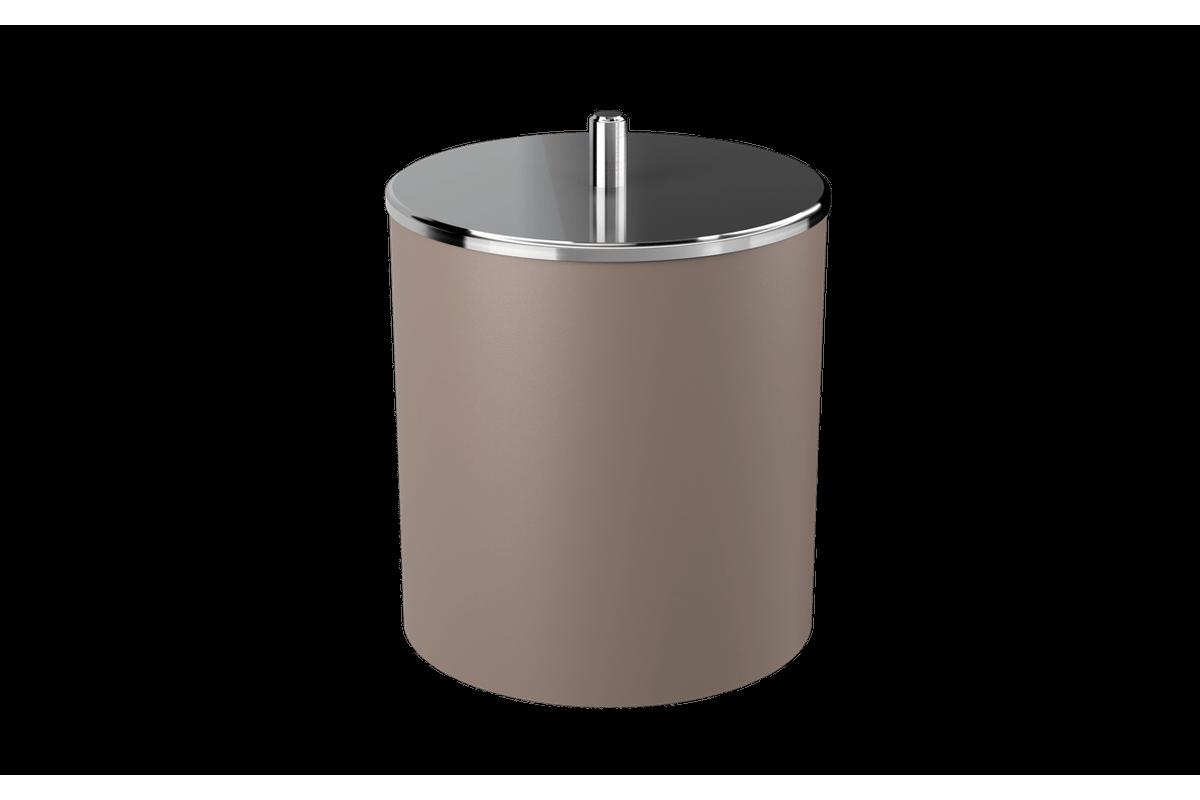 Lixeira com Tampa Inox 5,4L 19,5x20x22,4cm Warm Gray Coza