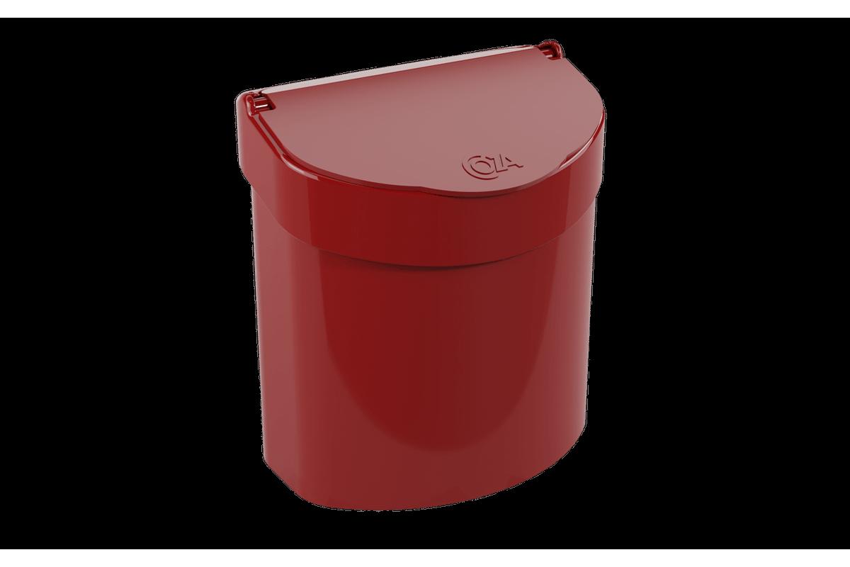 Lixeira para Pia Glass 2,7 L 20,3 X 14,6 X 21,3 Cm Vermelho Bold Coza