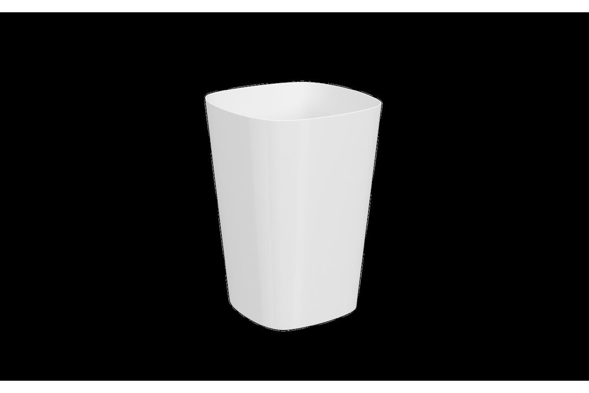 Lixeira Sem Tampa 5L 18,5x18,5x28,5cm Branco Coza