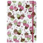Lovely Cupcake Caderno Rosa/multicor