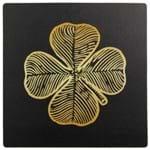 Lucky Trevo Mouse Pad Preto/ouro
