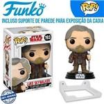 Luke Skywalker Star Wars Funko Pop #193 + Suporte de Parede