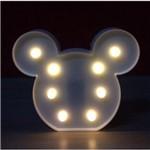 Luminária Abajur de Led Cabeça do Mickey Decoração