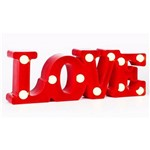 Luminaria Led Love Amor Decorativa 3d Abajur com 11 Leds para Mesa ou Parede