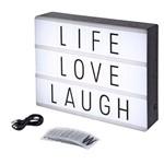 Luminária Light Box Led Cinema A4 96 Letras Números Ícones