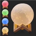 Luminária Lua Cheia Colorido Abajur Led Usb Touch 14cm