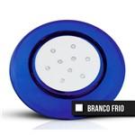 Luminária P/ Piscina Azul125mm 9w Branco Frio