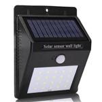 Luminária Solar de Parede com Sensor de Movimento 25 Leds