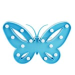 Luminoso de Plástico Led Borboleta Azul Claro a Pilha (26cm)