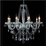 Lustre Bella Candelabro Anjou Metal Vidro Transparente 68x68cm 8 E14 Bivolt Jf018c Salas e Hall